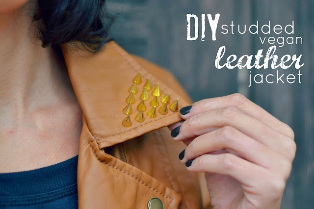 Mommy Testers, DIY studded leather jacket