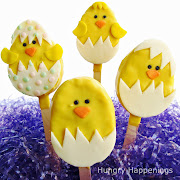 I have one more Easter tutorial complete and will share . easter chicks rice krispies treat pops
