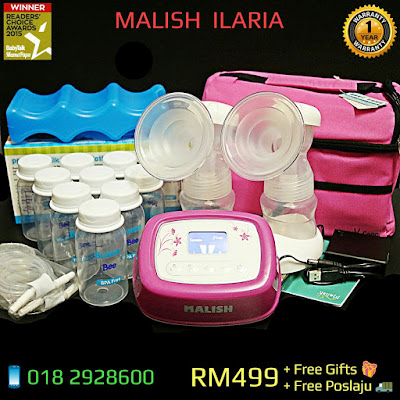 Malish Ilaria Heavy Duty Double Electric/Battery/Powerbank/Usb Breast Pump