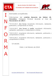 C.T.A. INFORMA CRÉDITO HORARIO VÍCTOR GONZALEZ, NOVIEMBRE 2017