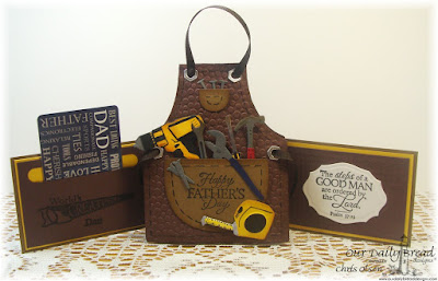 Our Daily Bread Designs Stamp sets: Worlds' Greatest, Good Man, ODBD Custom Dies: Workshop Tools, Tool Time, Apron and Tools, Elegant Ovals