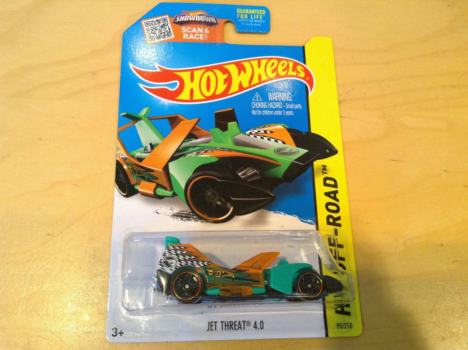 2015 TREASURE HUNT Hot Wheels JET THREAT 4.0 #95 US✰Green//Orange//Black✰Case F