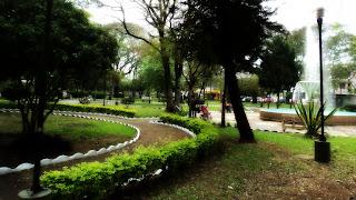 Praça Getúlio Vargas, no Centro de Alegrete