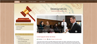 Immigration Blogger Template
