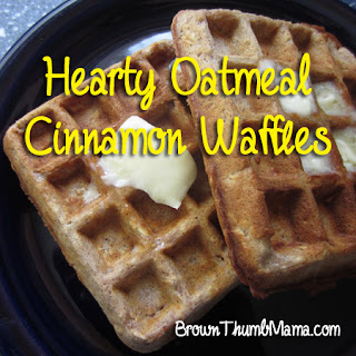 Recipe: Hearty oatmeal-cinnamon waffles