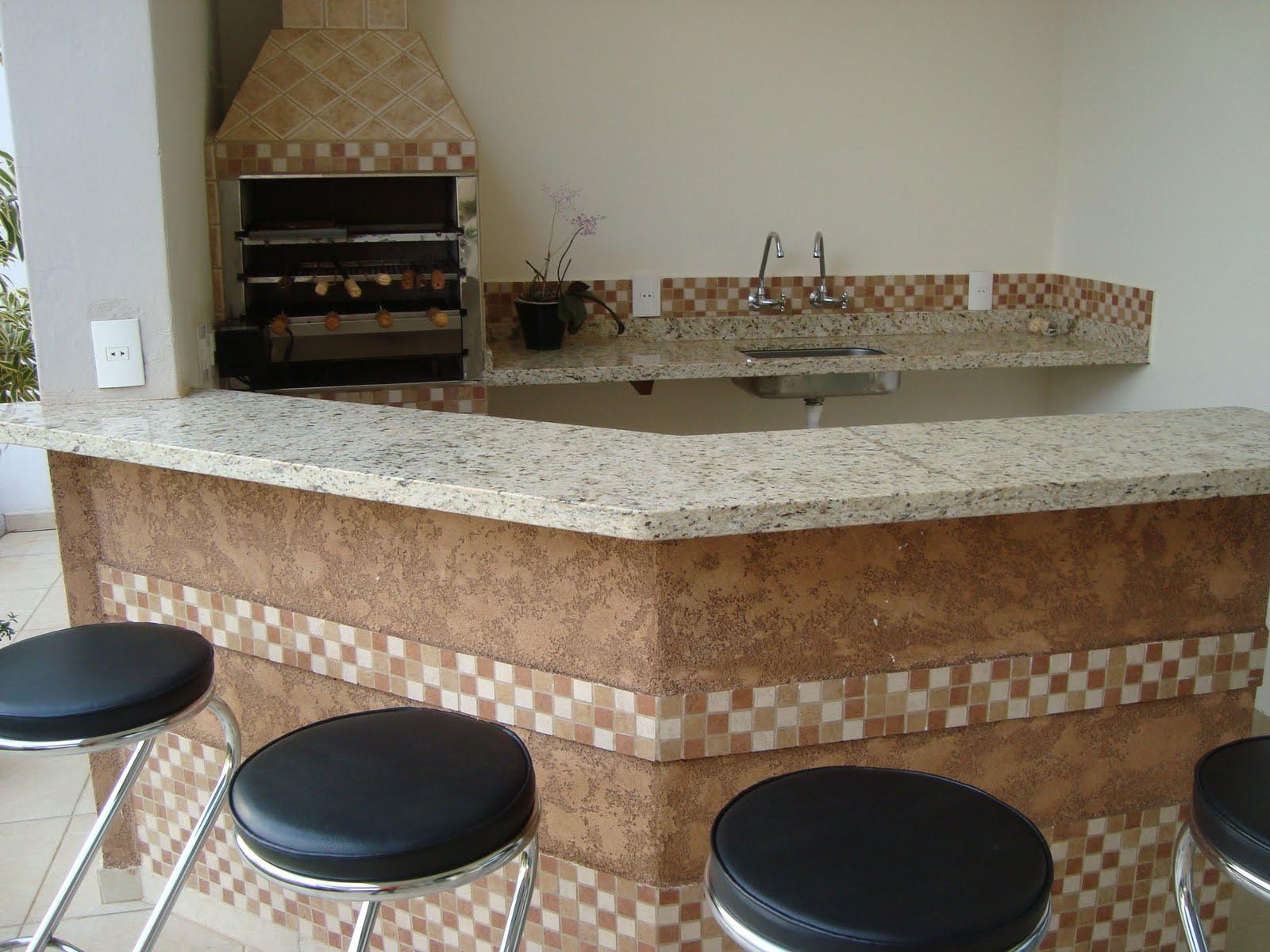 S³ ARQUITETURA E PLANEJAMENTO: Churrasqueira #64472C 1600x1200 Balcao Banheiro Artesanal