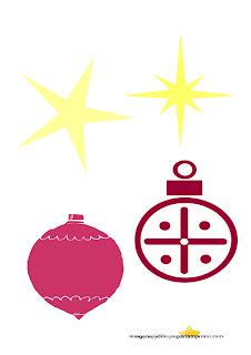 Estrellas de navidad, bolas de navidad