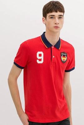 polo bandera España de Zara para el Mundial Brasil 2014