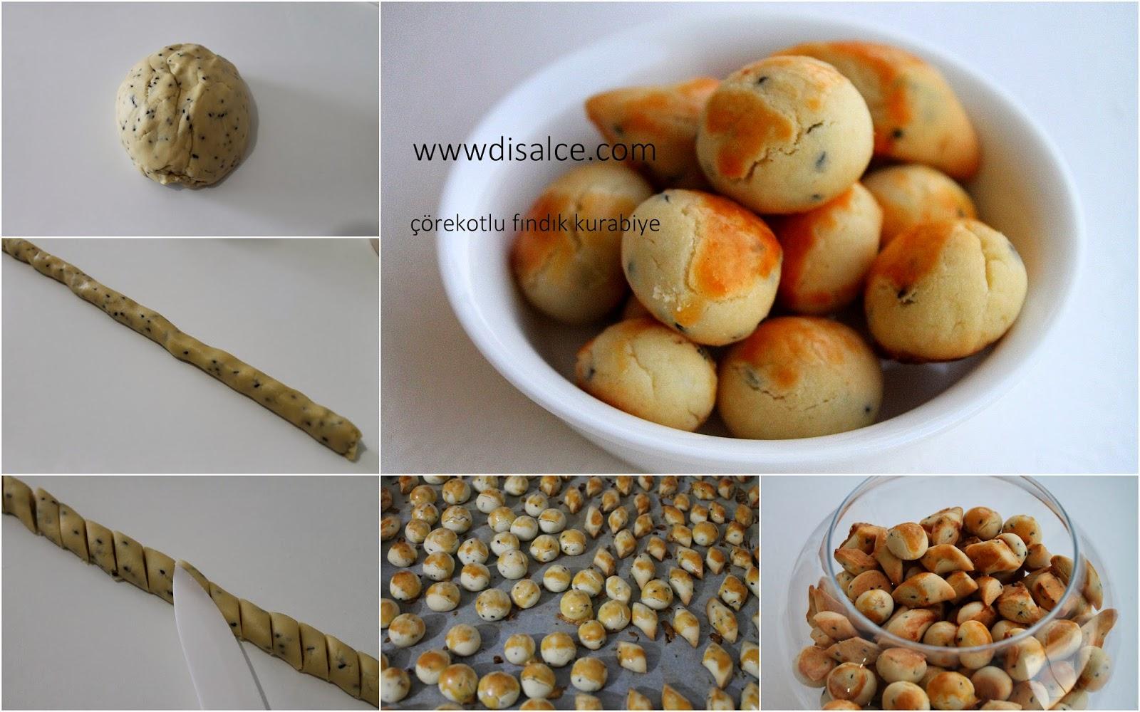 çörekotlu fındık kurabiye
