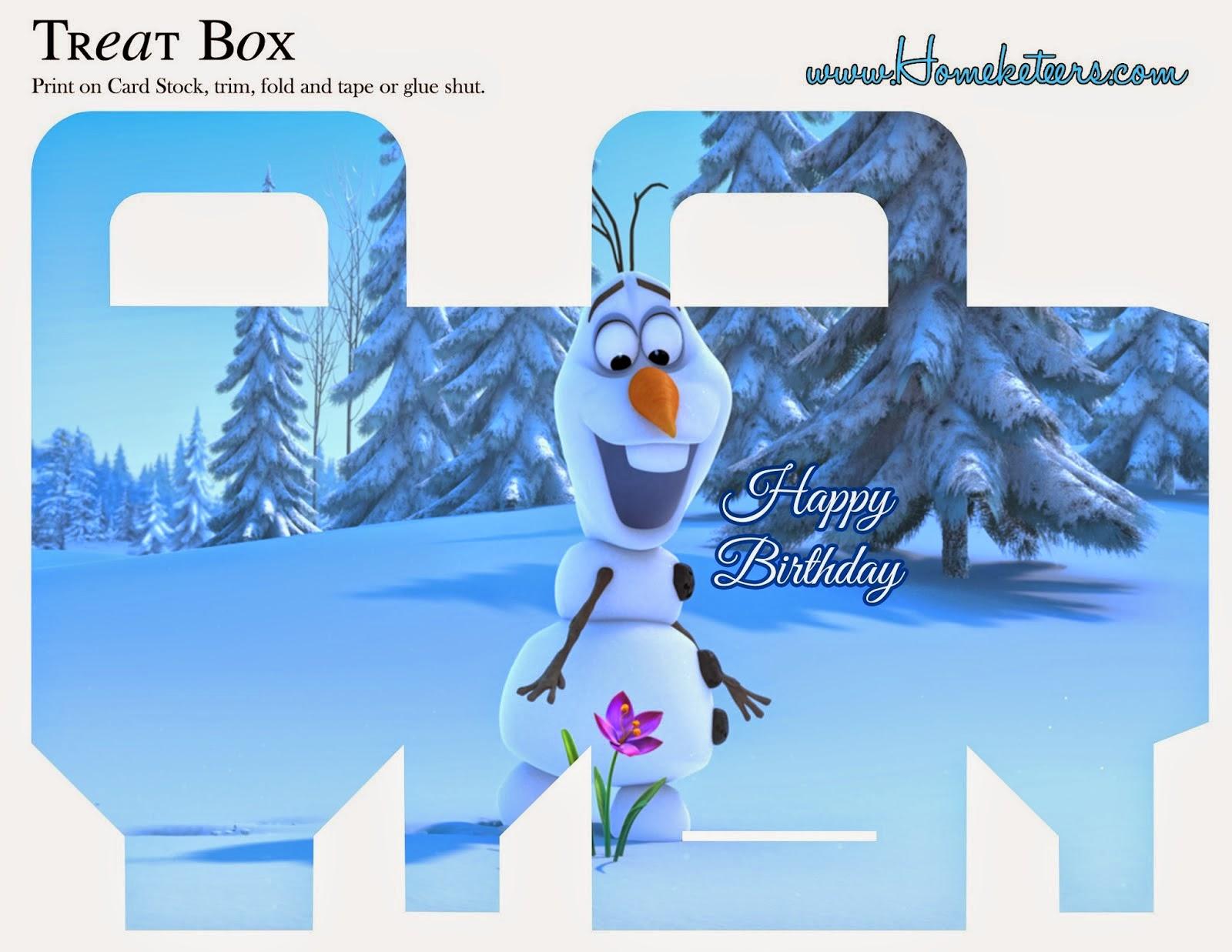 Populares Festa Frozen: Caixinhas festa Frozen para imprimir e montar VR62