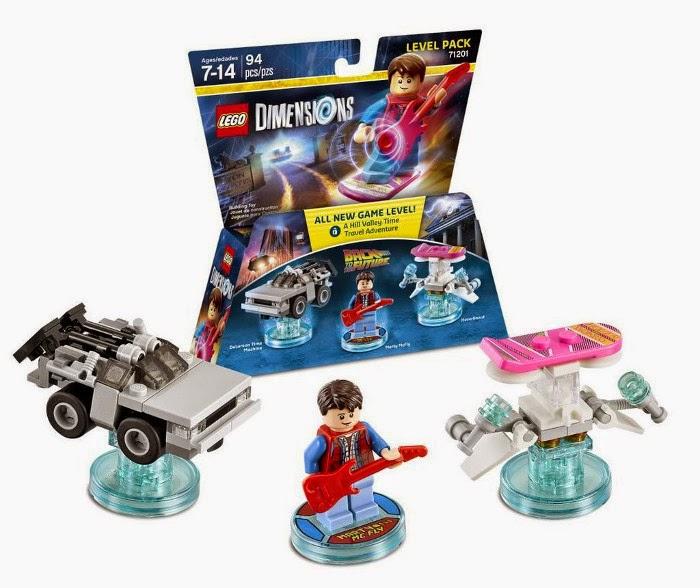 TOYS & JUGUETES - LEGO Dimensions  71201 Level Pack - Back to the Future | Regreso al Futuro  Muñecos - Figuras: DeLorean - Marty McFly - Hoverboard  Videojuegos - Videogames | Septiembre 2015 |   Piezas: 94 | Edad: 7-14 años