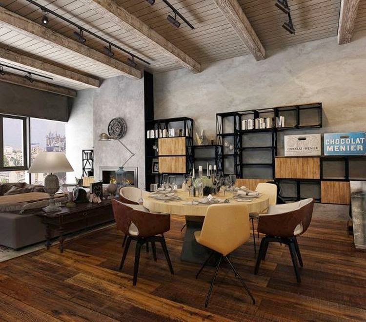 Industrial loft in moscow by lyubimova kate home img for Loft office design ideas