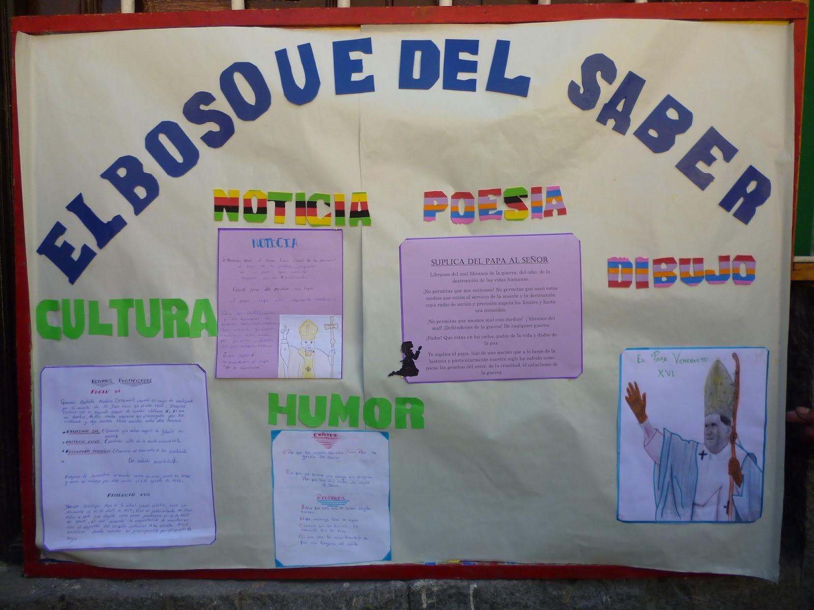 Colegio san lorenzo de alis peri dico mural por el d a for Componentes de un periodico mural