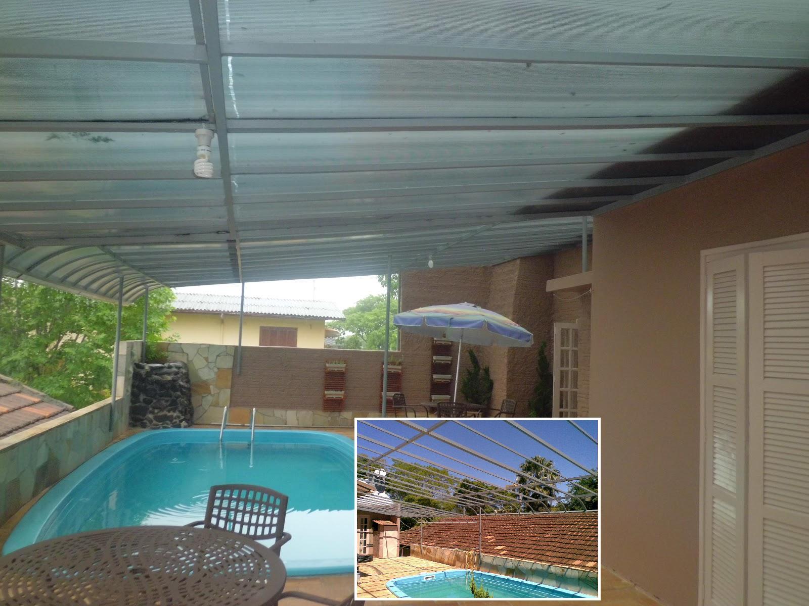 Cobertura fixa para piscina - Toldo para piscina ...