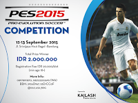 PES 2015 Tournament di Bandung September 2015