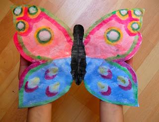 gotowy motyl kolorowy odbitka symetryczna