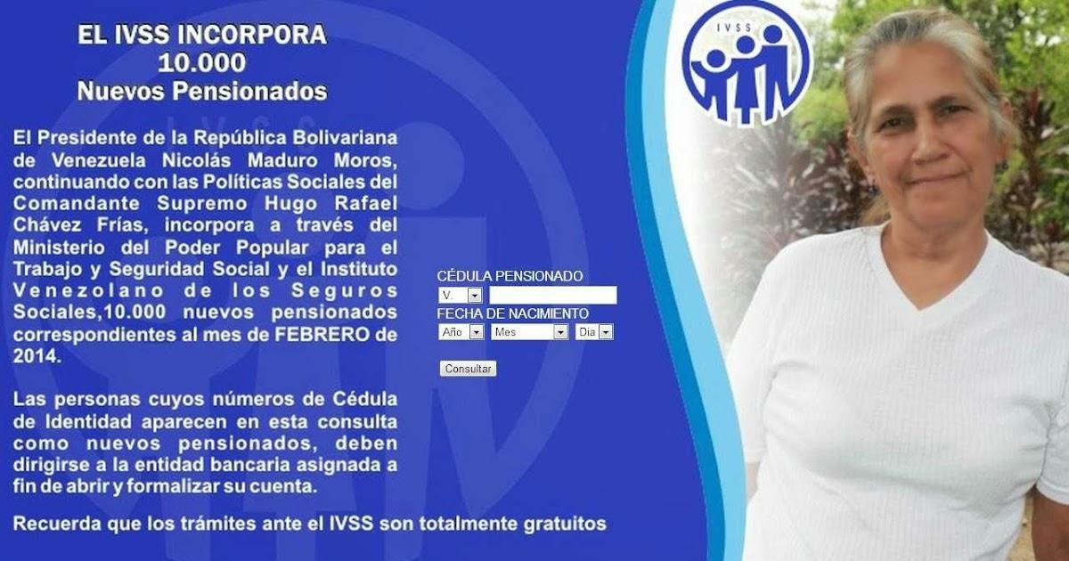 Ivss Pensionados 2014 | pensionados ivss marzo 2014