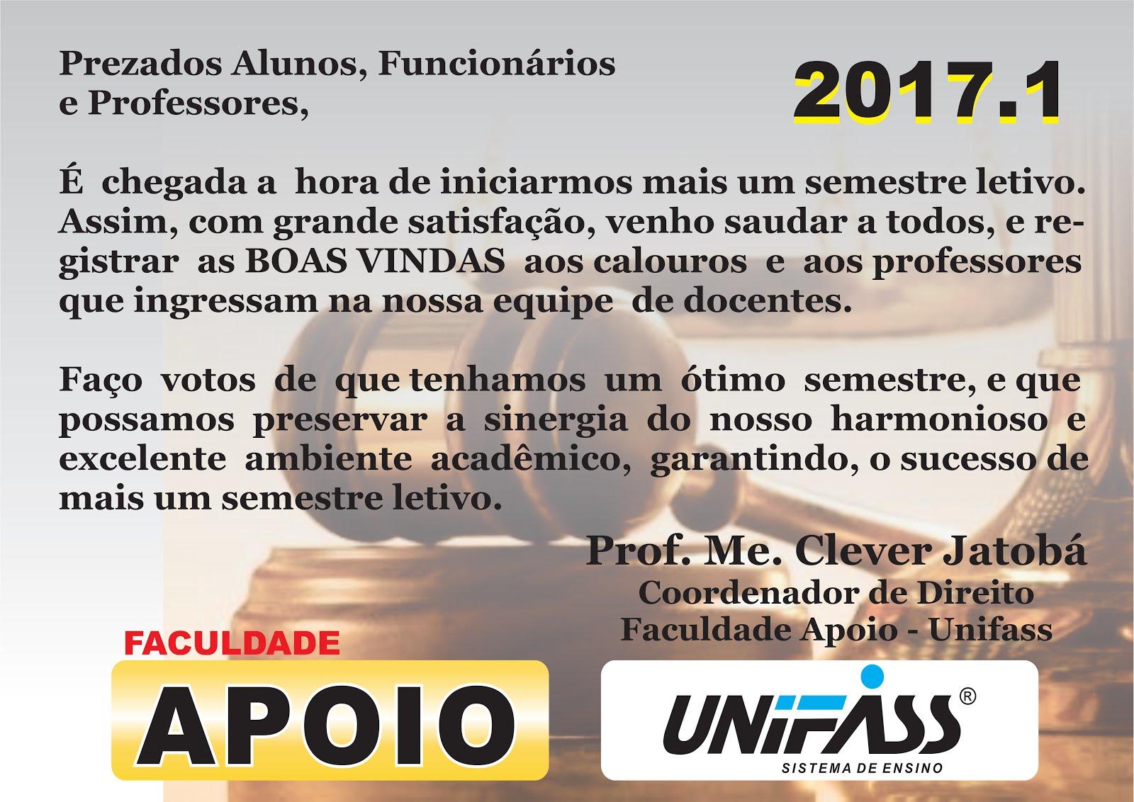 Boas Vindas 2017.1