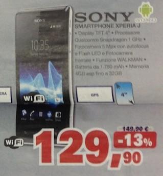 Miglior prezzo di Marzo per Sony Xperia J a soli 129,90 euro