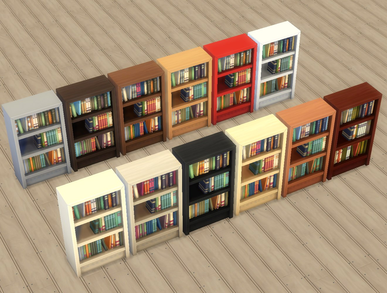 """Very Impressive portraiture of My Sims 4 Blog: Single Tile """"Intellect"""" Bookcases by Plasticbox with #AB2920 color and 1320x1000 pixels"""