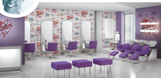 O que fazer id ias para o tema sal o - Salones de peluqueria decoracion fotos ...