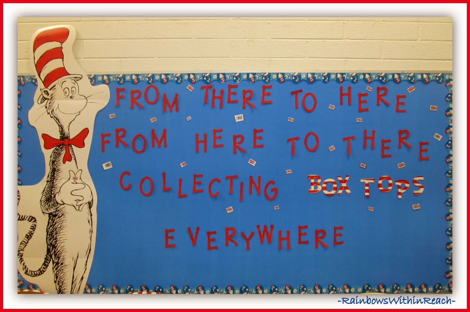 Seuss Bulletin Board via RainbowsWithinReach