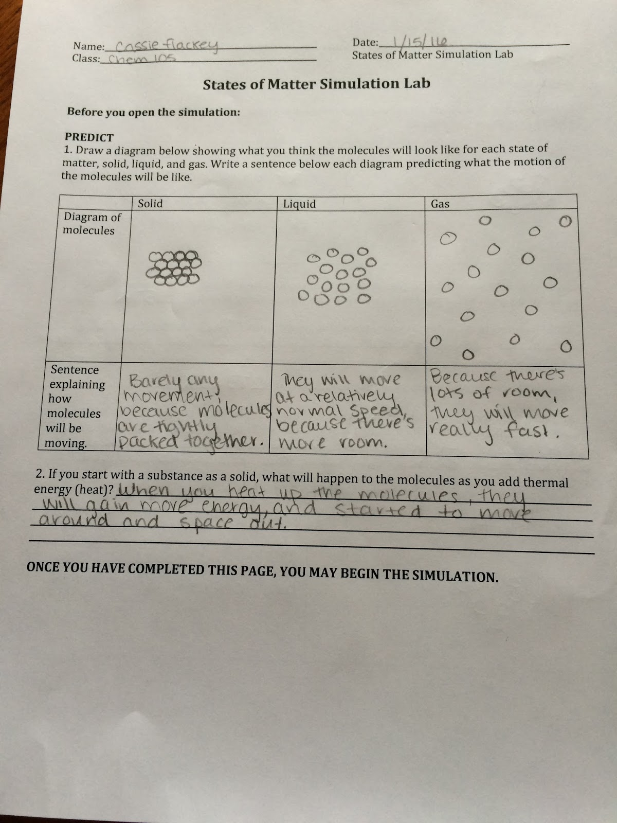 Visualizing Chemistry 105: Activity 6