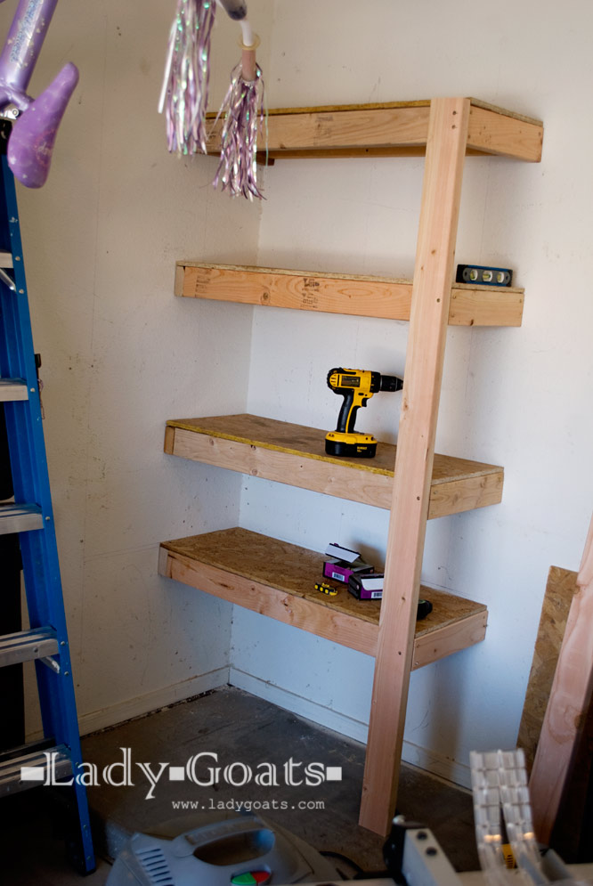 Lady Goats: Operation Organize Garage: One Small Shelf for Garage...