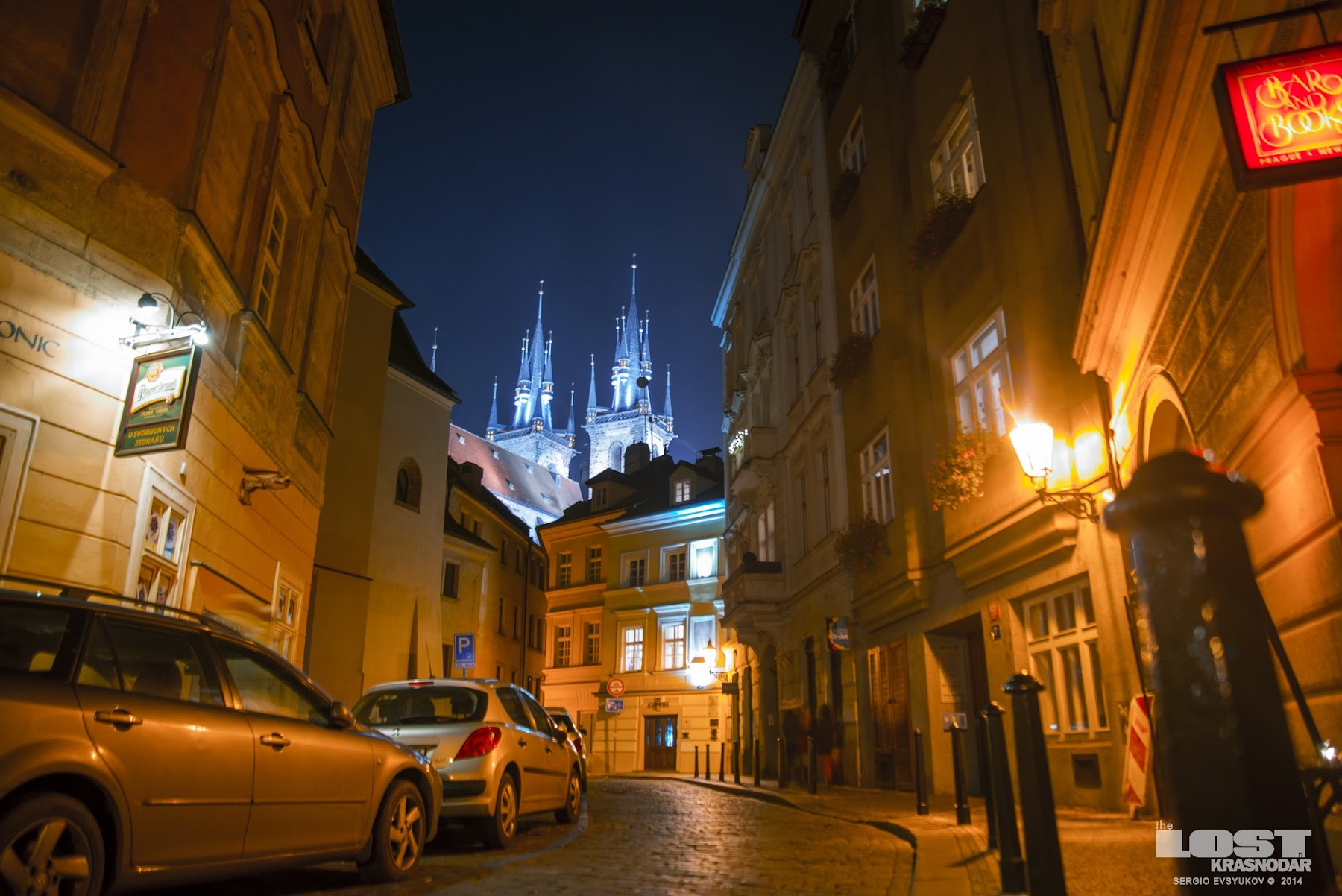 Чехия ночью