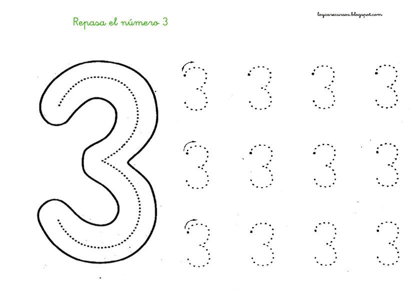 FICHAS DE APRENDIZAJE: numero 3