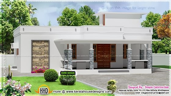 Small Kerala house elevation