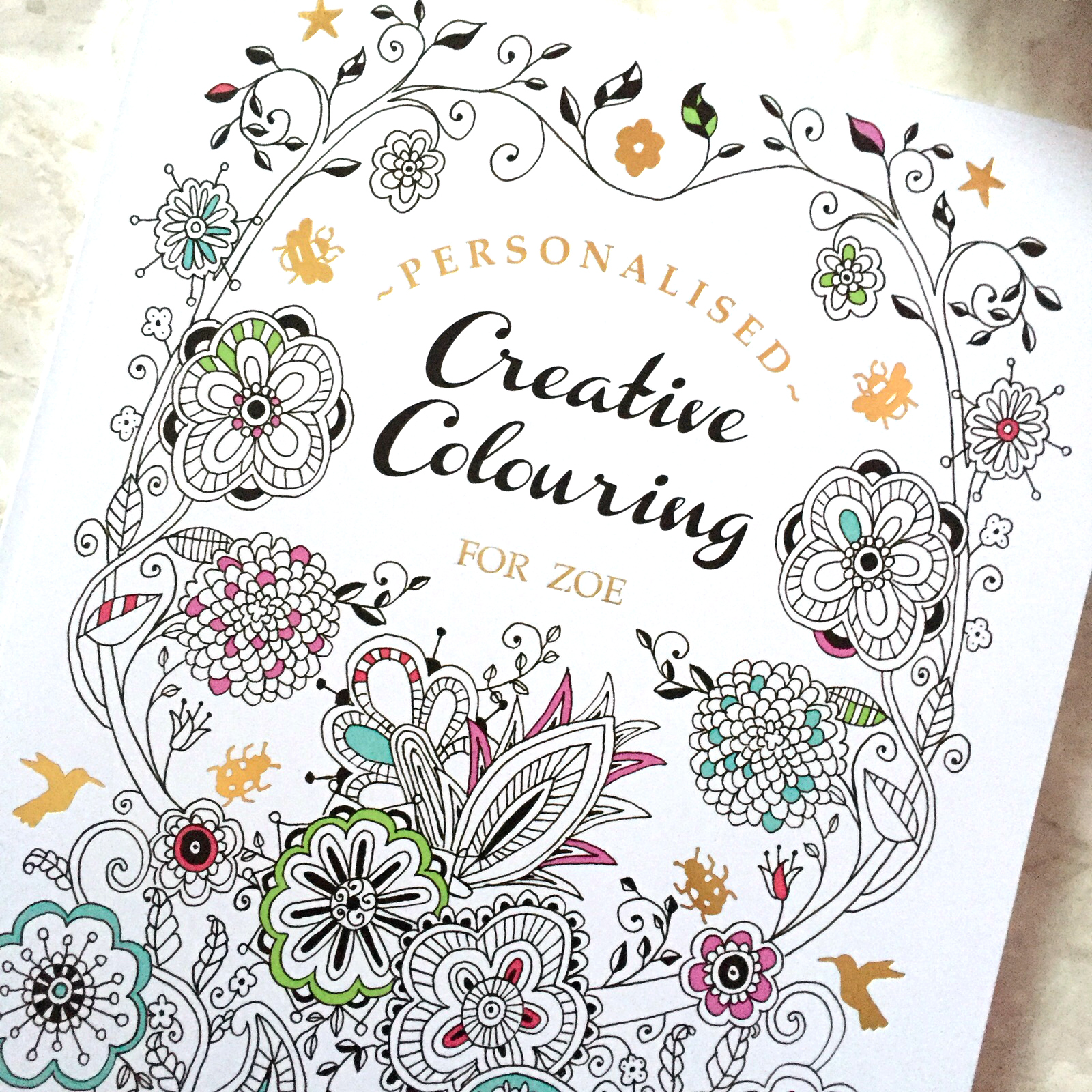 Coloring books for adults and children - Personalised Colouring Books For Adults And Children