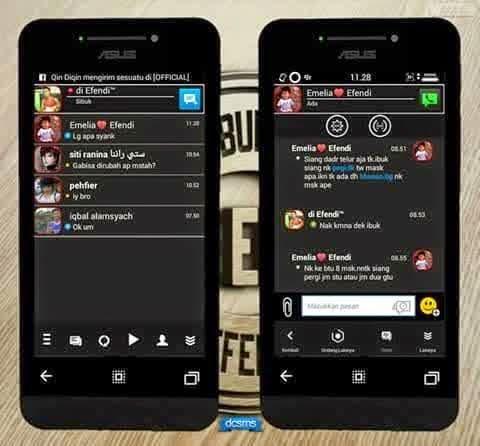 BBM MOD Smophix Black Mini v2.8.0.21 APK