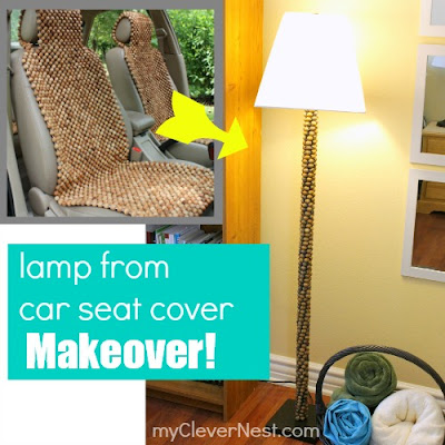 Lamp makeover- extreme recycling! You will laugh when you find out what was used:)