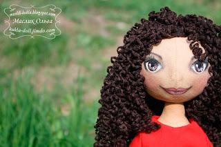авторская текстильная кукла, тыквоголовка