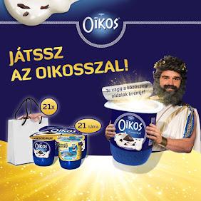 Nyerj naponta egy tálca Danone Oikos joghurtot vagy egy értékes kozmetikai csomagot!