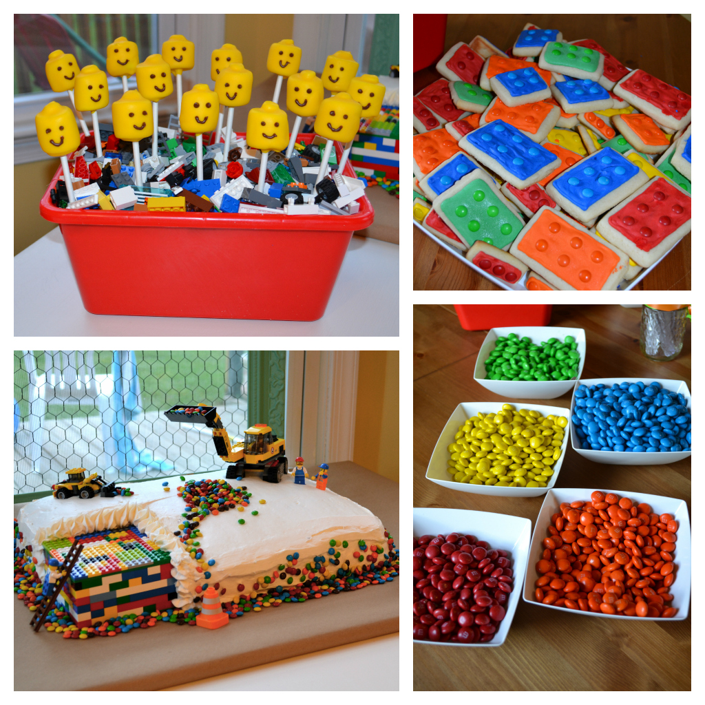 The domestic doozie will 39 s 5th birthday lego style for 5th birthday decoration ideas