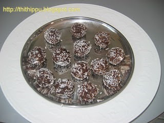 Carob Balls is made with carob and dates