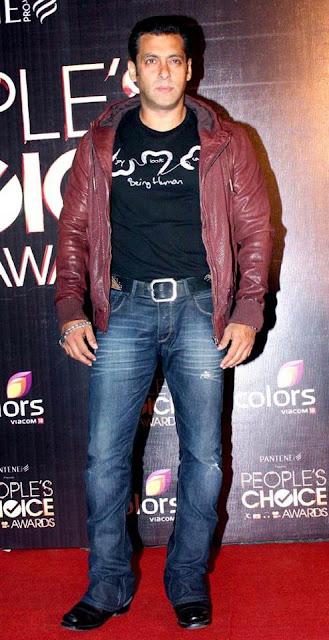 Salman Khan at People's Choice Awards 2012