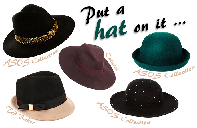 ASOS felt hats fall 2013, fedora, floppy hat, boater, asos collection, Ted baker, Catarzi