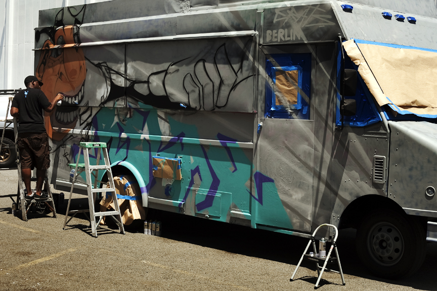 The Crew Recently Won Opportunity To Paint A Food Truck Over One Weekend We Rocked Out San Diegos New And Freshest
