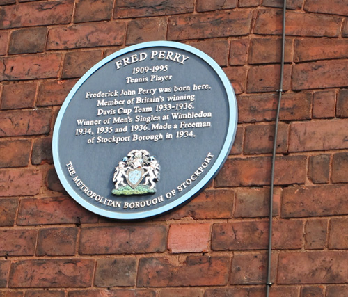 Fred Perry's Birthplace Stockport