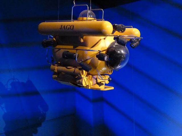 Tauchboot Jago in der Tiefsee-Ausstellung im Lokschuppen Rosenheim
