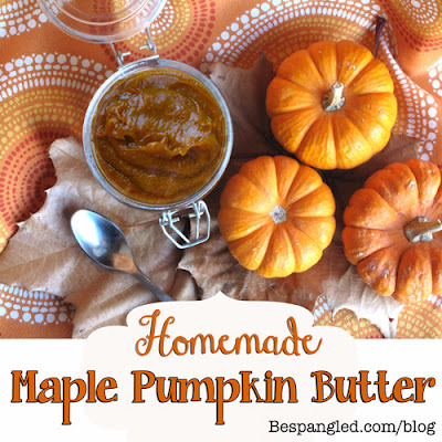 Homemade Maple Pumpkin Butter with free printable homemade labels. Delicious fall treat that also makes great gifts!