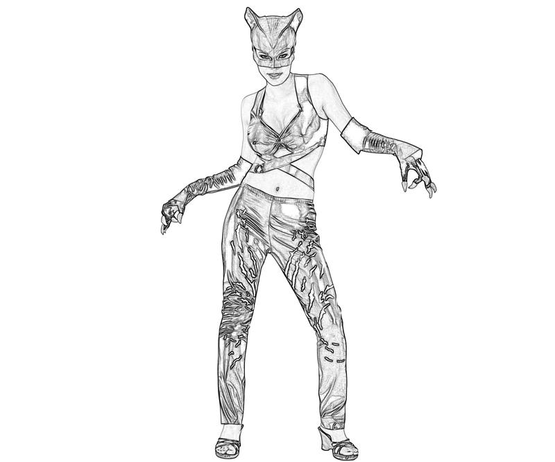 Printable Injustice Gods Among Us Catwoman Weapon Coloring Pages