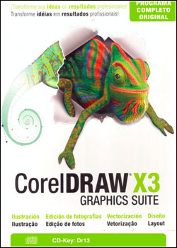 Download - CorelDRAW Graphic Suite X3 + Keygen - Português