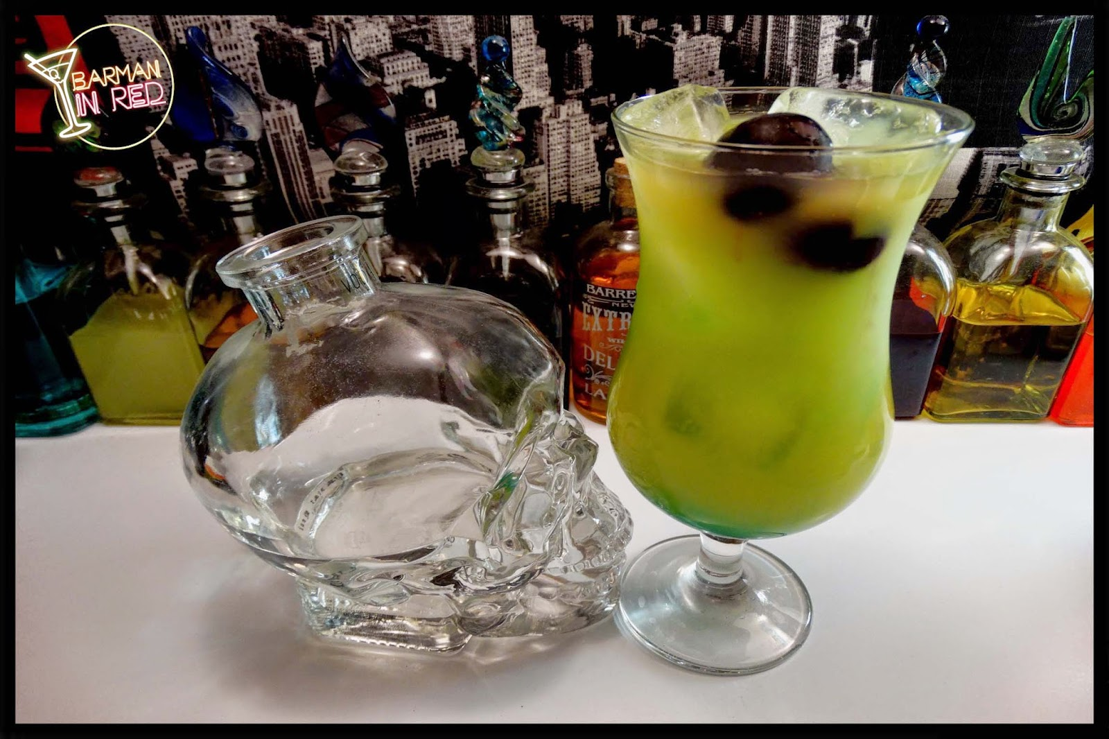 Hurricane Blue Cocktail