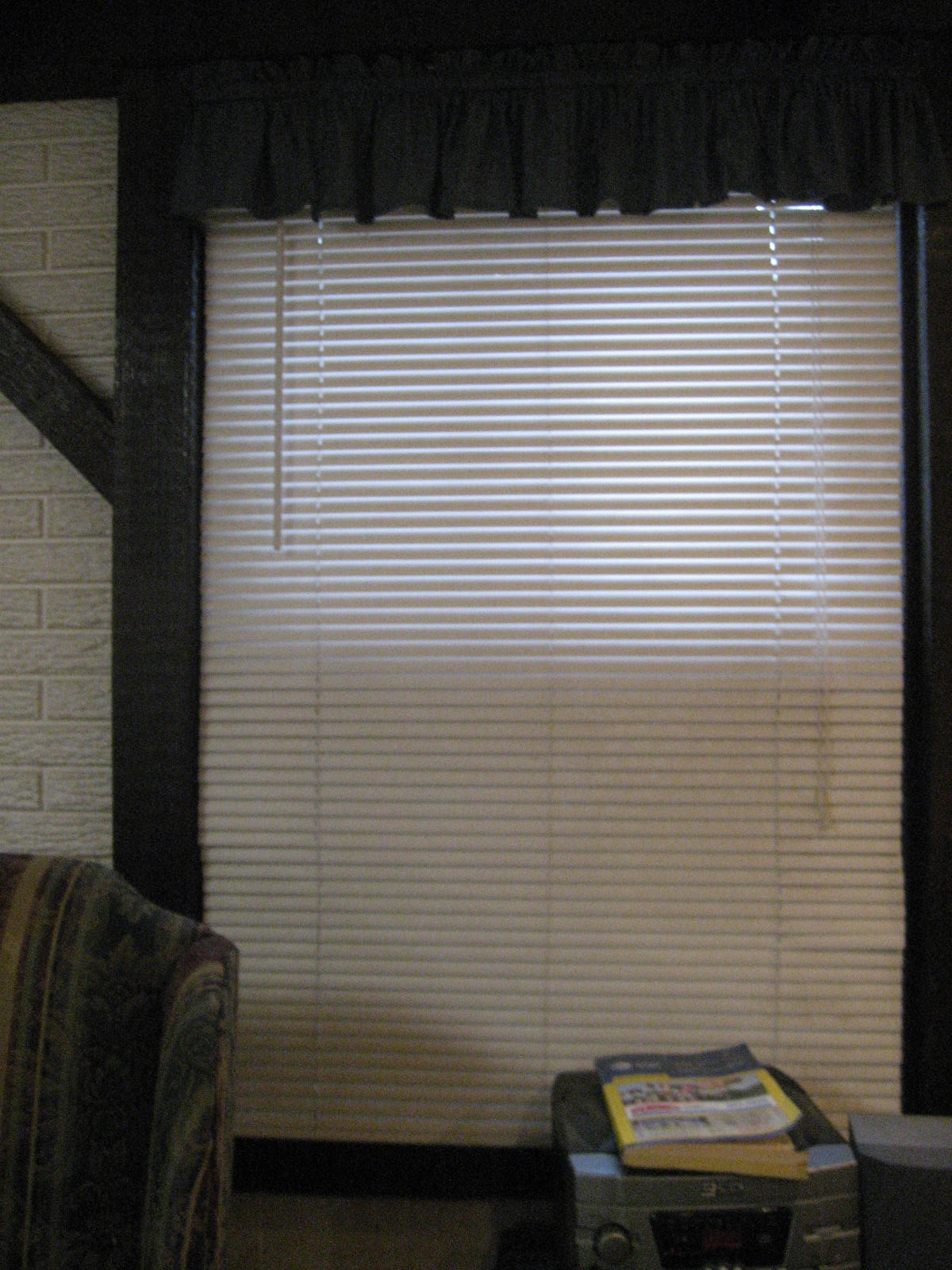 rubies running roman shades from old mini blinds