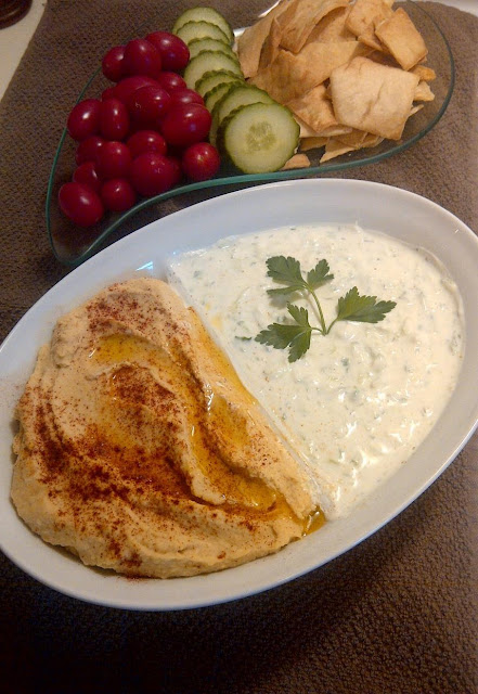 The Wandering Hen: Tzatziki and Hummus Dips