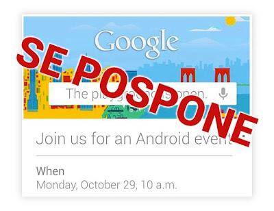 Se pospone el evento del 29/10 de Google